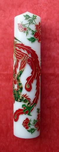 Phönix-Drachen-Kerze