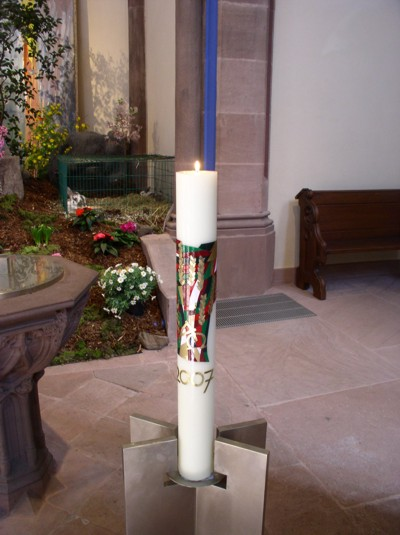 Osterkerze für die Evangelische Stadtkirche Offenburg