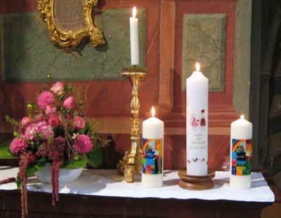 Hochzeit und Taufen