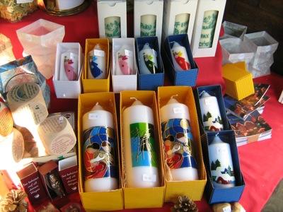 Stand auf dem Offenburger Weihnachtsmarkt