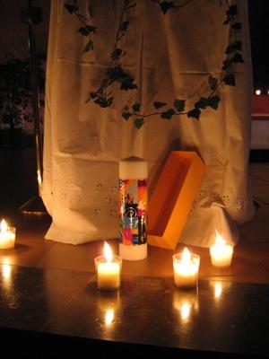 Kerze zum Jubiläum