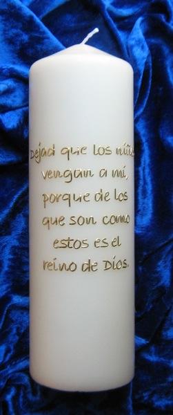 Spanische Taufkerze