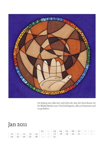 Kalenderblatt für Januar 2011