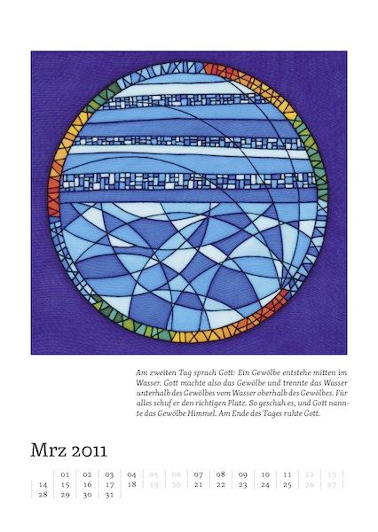 Kalenderblatt für März 2011