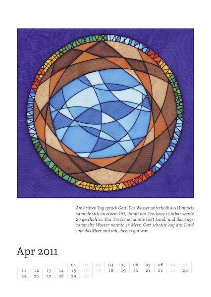 Kalenderblatt für April 2011