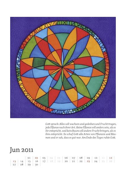 Kalenderblatt für Juni 2011