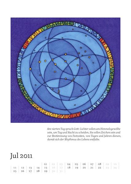 Kalenderblatt für Juli 2011