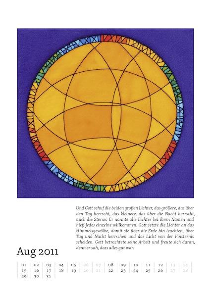 Kalenderblatt für August 2011