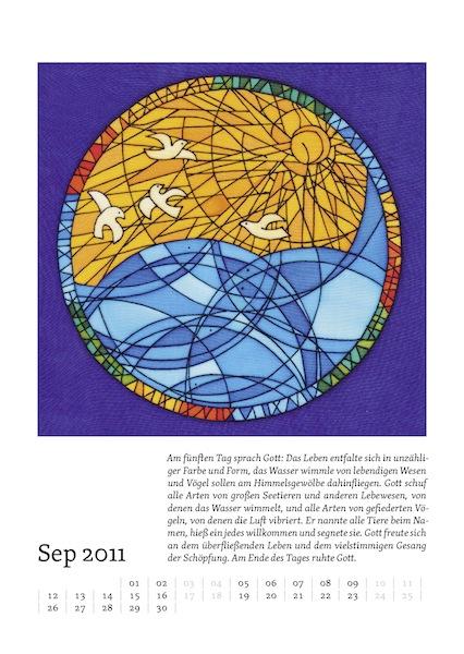 Kalenderblatt für September 2011