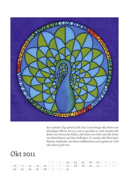 Kalenderblatt für Oktober 2011