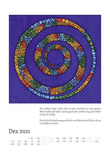 Kalenderblatt für Dezember 2011