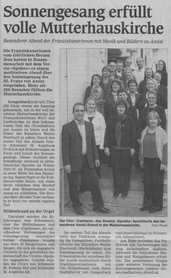 Artikel im Offenburger Tageblatt