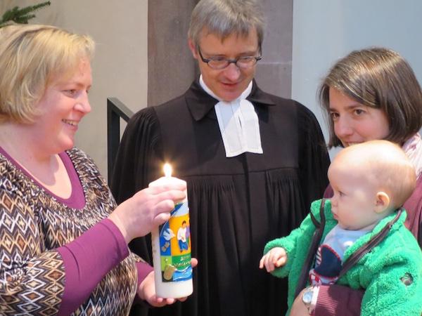 Taufe der kleinen Apfelschwester