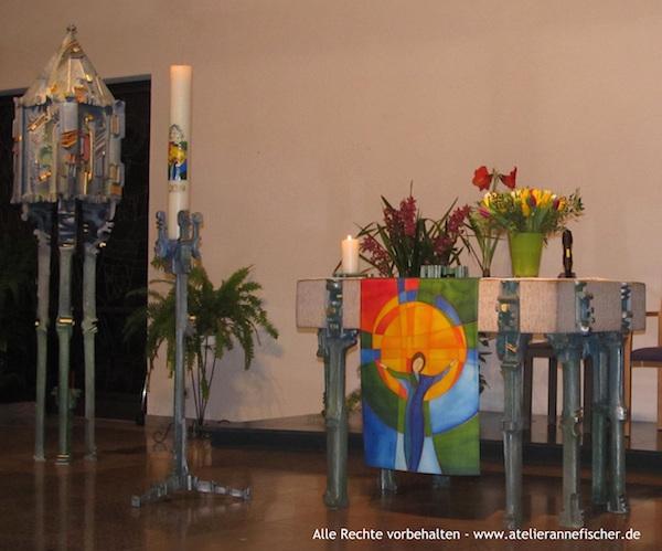 Wander-Antependium in der Kapelle der Josefsklinik