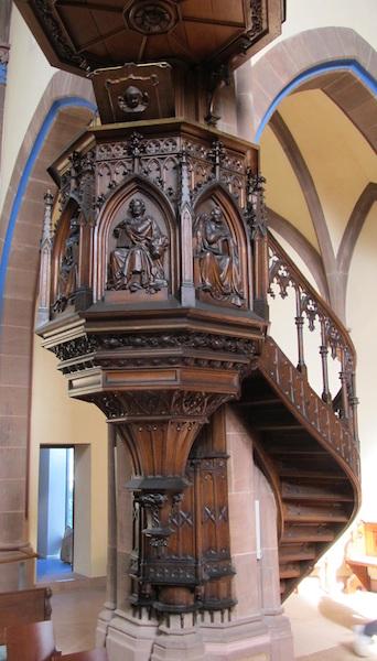 Kanzel der Evangelischen Stadtkirche Offenburg